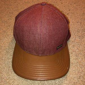 Supreme SnapBack Hat - Brown Leather Brim